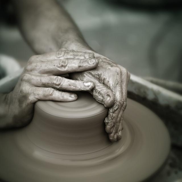 """Pottery wheel"" stock image"