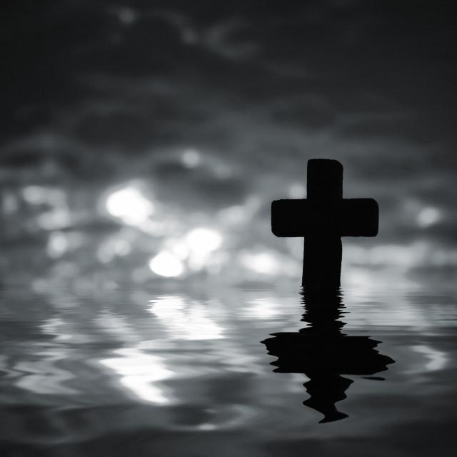 """Cross Silhouette"" stock image"