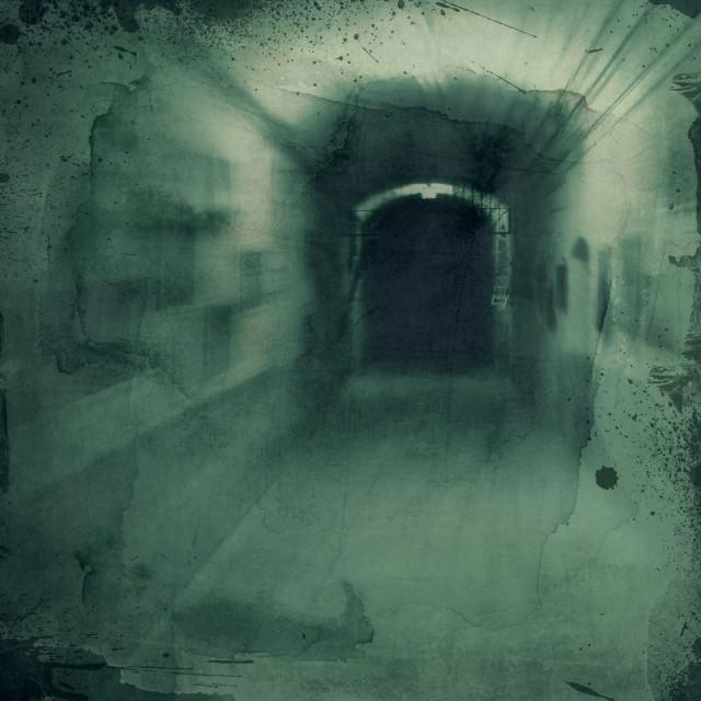 """Grunge textured background - hallway"" stock image"