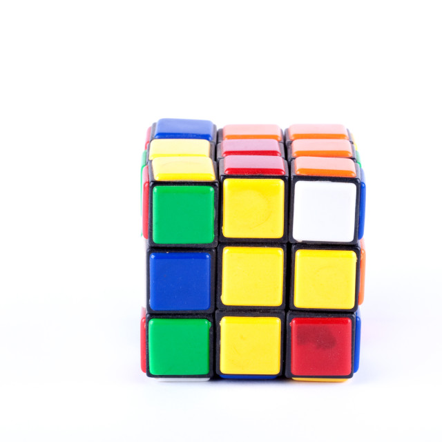 """Puzzle cube studio isolated"" stock image"
