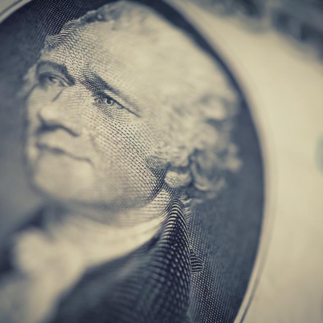 """""""US dollars background, retro style toned photo"""" stock image"""