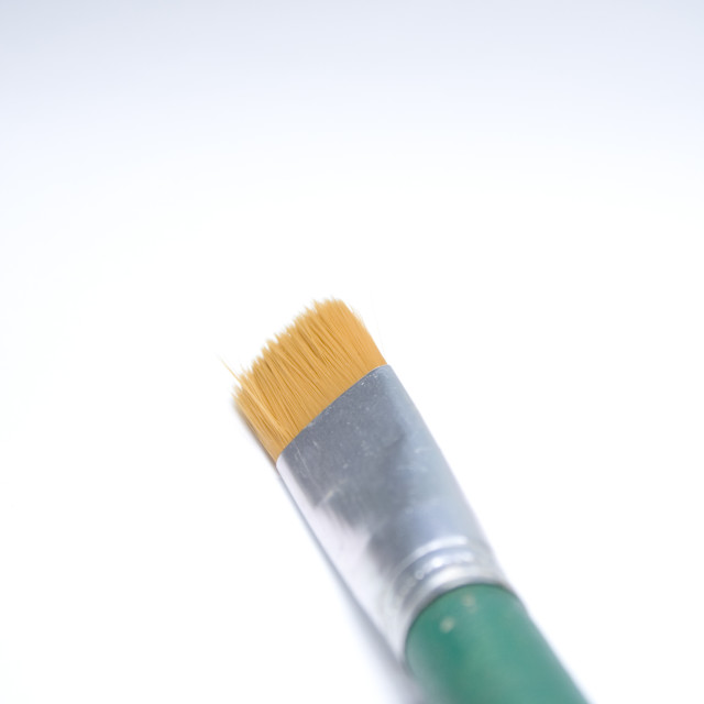 """Artistic paint brush on white background"" stock image"
