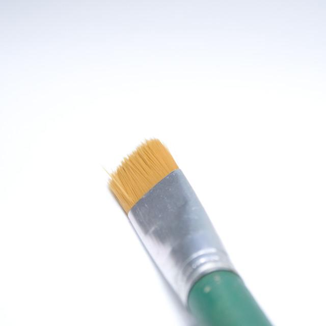 """""""Artistic paint brush on white background"""" stock image"""