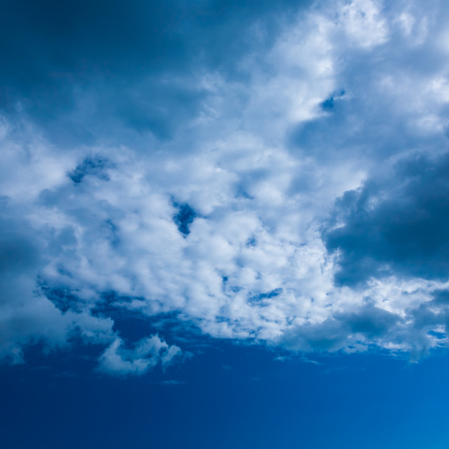 """Beautiful skyscape on a sunny day"" stock image"