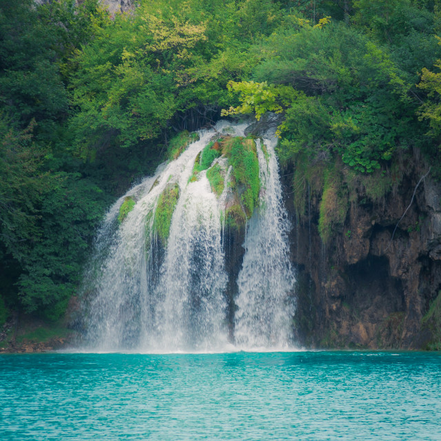 """Waterfall at Plitvice Lakes"" stock image"