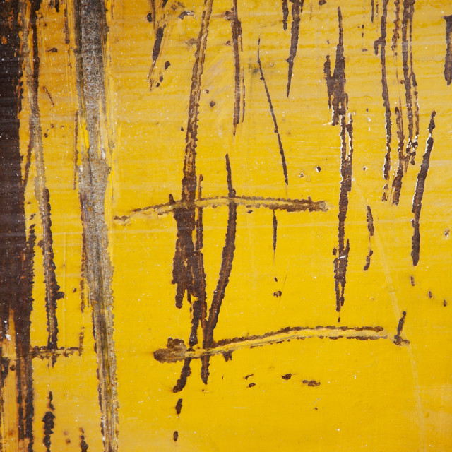 """Grunge yellow metal texture or background"" stock image"