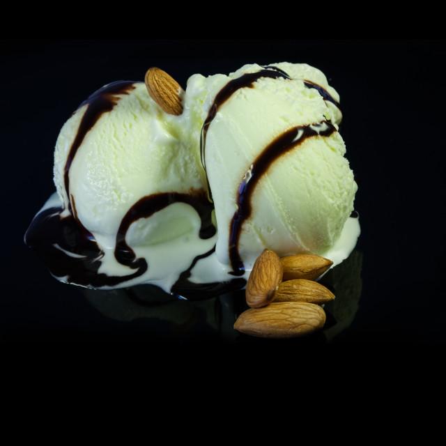 """Ice Cream cup , shallow DOF photo"" stock image"