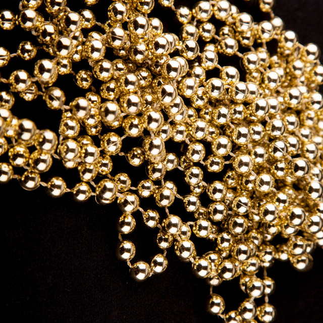 """""""Pearls on black background"""" stock image"""