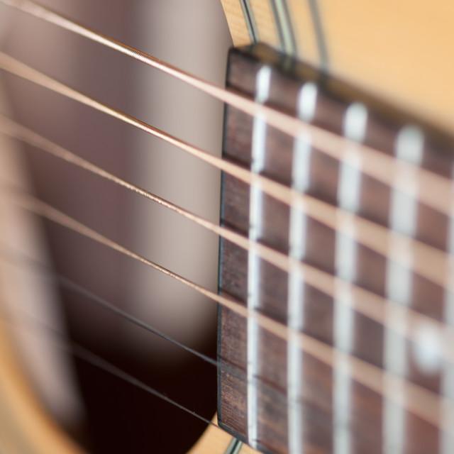 """""""Guitar detail macro"""" stock image"""