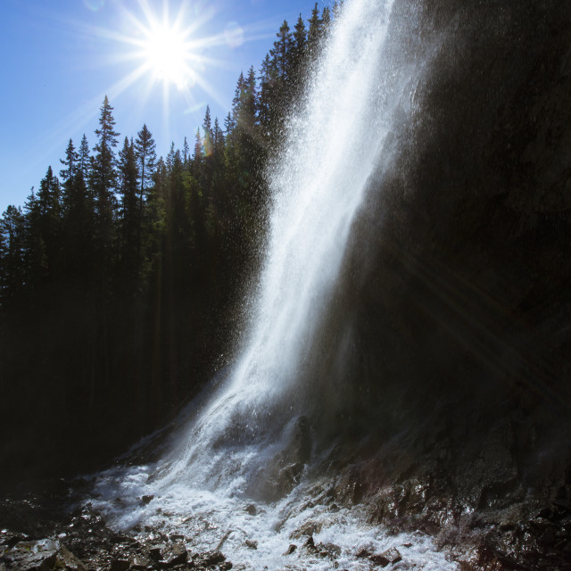 """Spray Falls with Sun 4"" stock image"