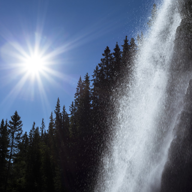 """Spray Falls"" stock image"