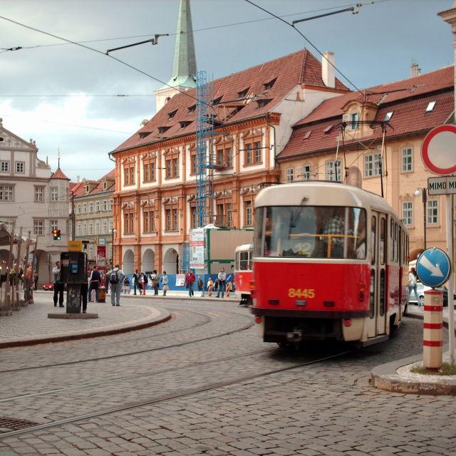 """Prague tram"" stock image"