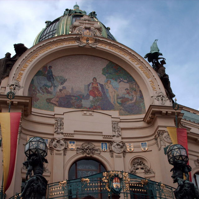 """Prague municipal house"" stock image"