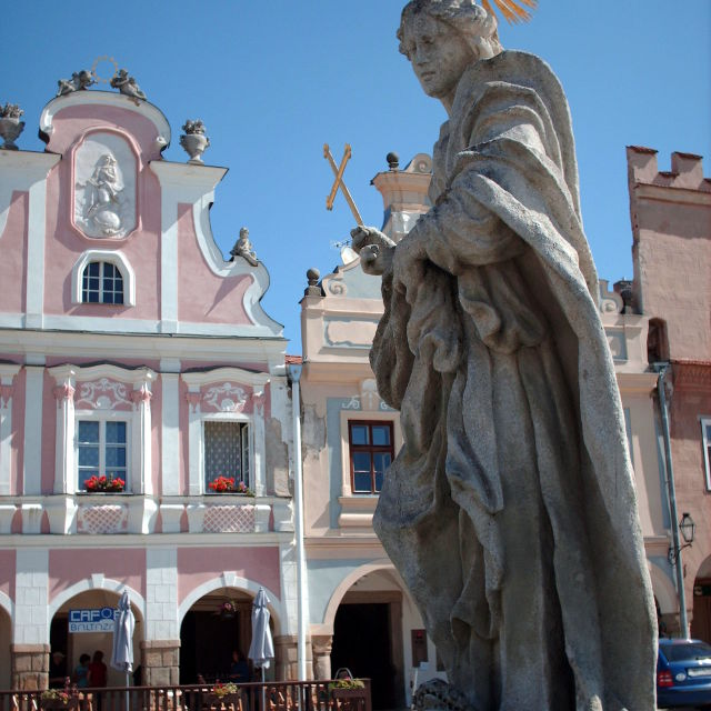 """Statue in Telc"" stock image"