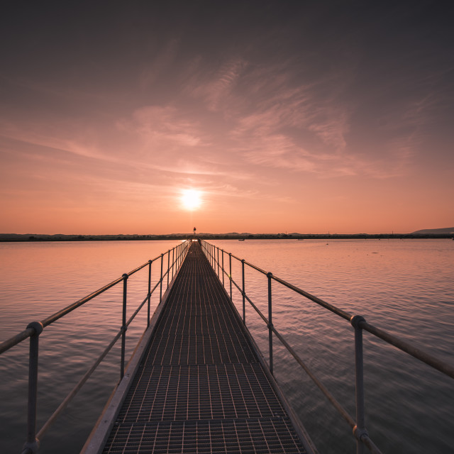 """Sunset Jetty"" stock image"