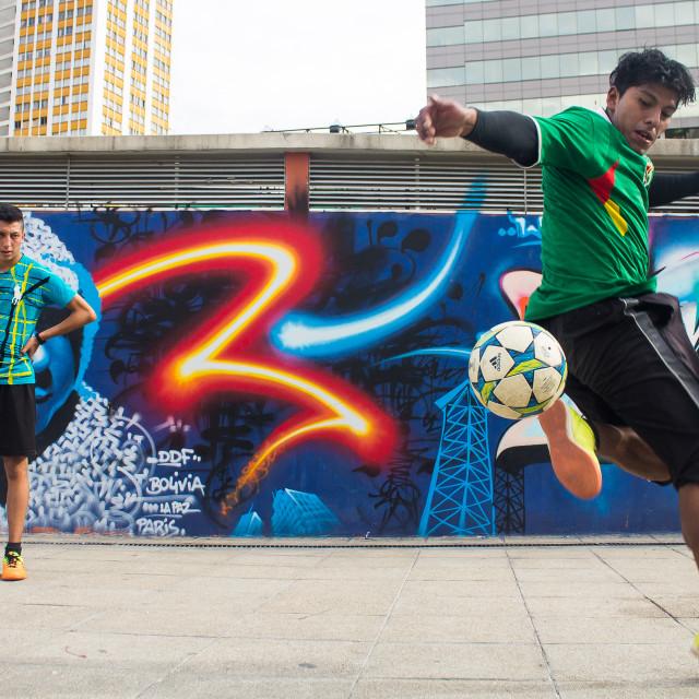 """""""Street soccer"""" stock image"""