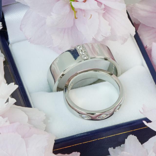 """Platinum Wedding Rings"" stock image"