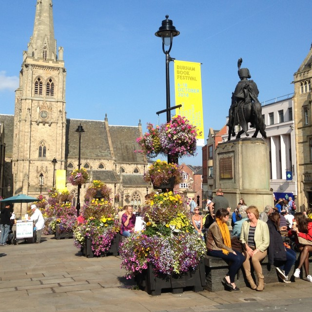 """Durham City market place"" stock image"