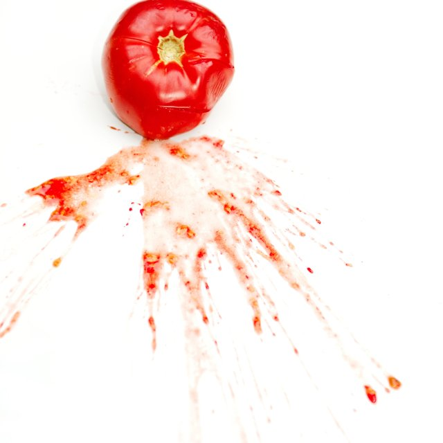 """Splattered Tomato"" stock image"