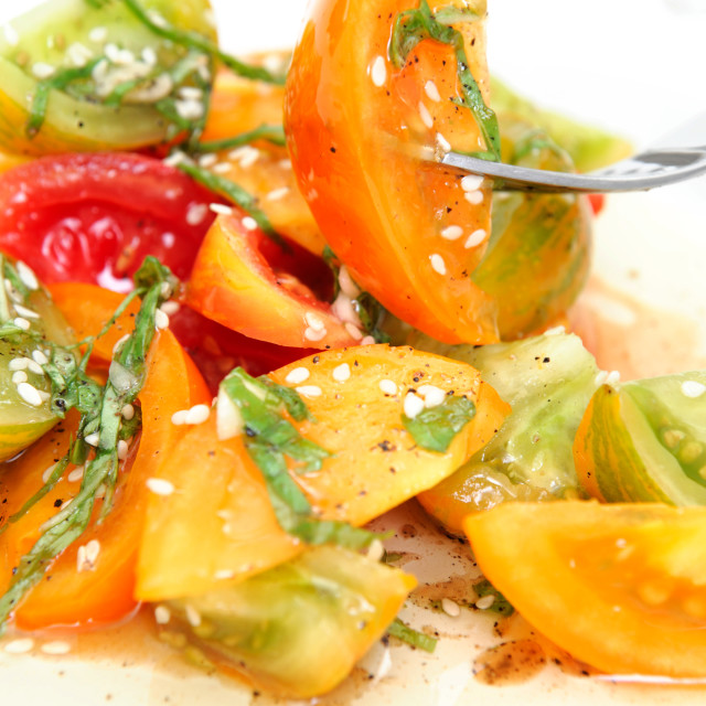 """Heirloom Tomato Salad"" stock image"