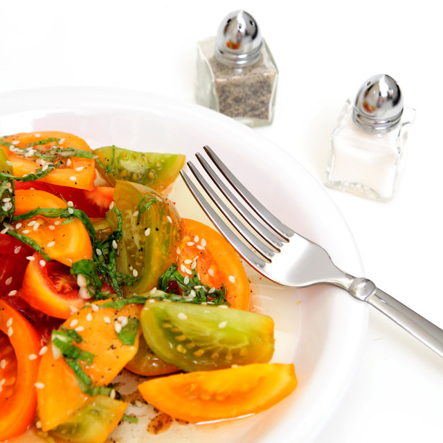 """Tomato Salad"" stock image"
