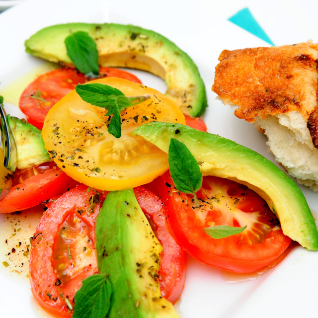 """Tomato And Avocado Salad"" stock image"