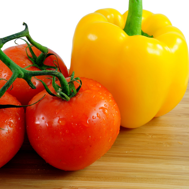 """Tomatoes And Bell Pepper"" stock image"