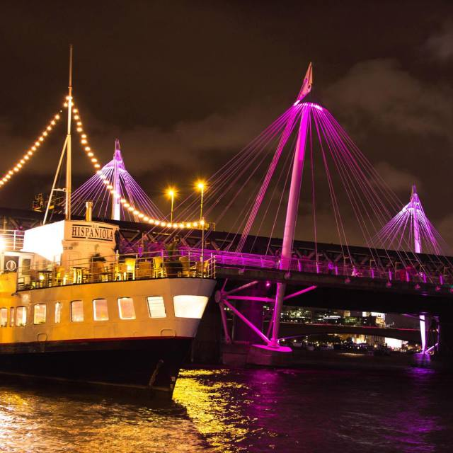 """Hispaniola on River Thames"" stock image"