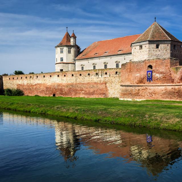 """Fagaras Citadel, Transylvania, Romania"" stock image"