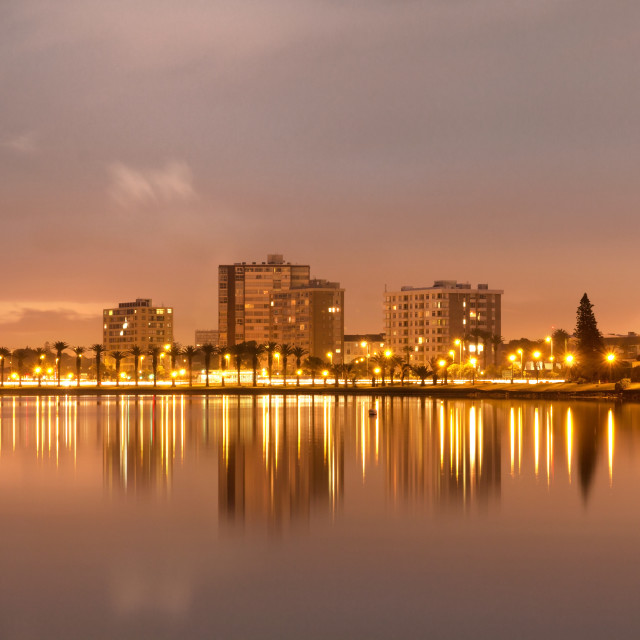 """""""Dawn at Lagoon Beach, Cape Town"""" stock image"""