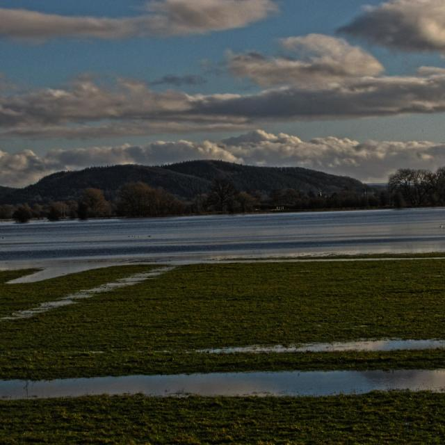 """Wye Valley Flooding"" stock image"