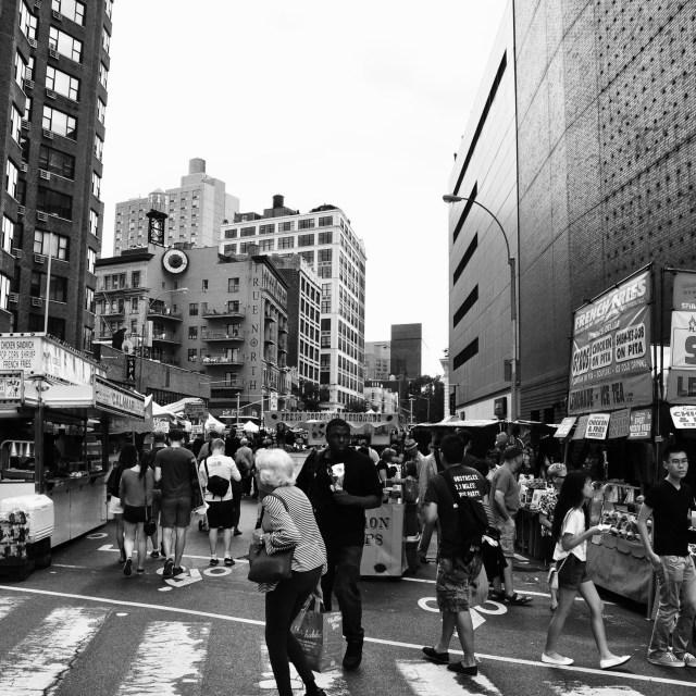 """Summer Street Market"" stock image"