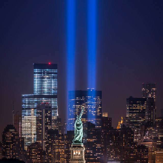 """Tribute in Light 2014"" stock image"