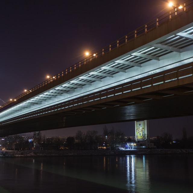 """""""Night in Bratislava"""" stock image"""