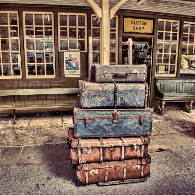 """""""Left Lugage"""" stock image"""