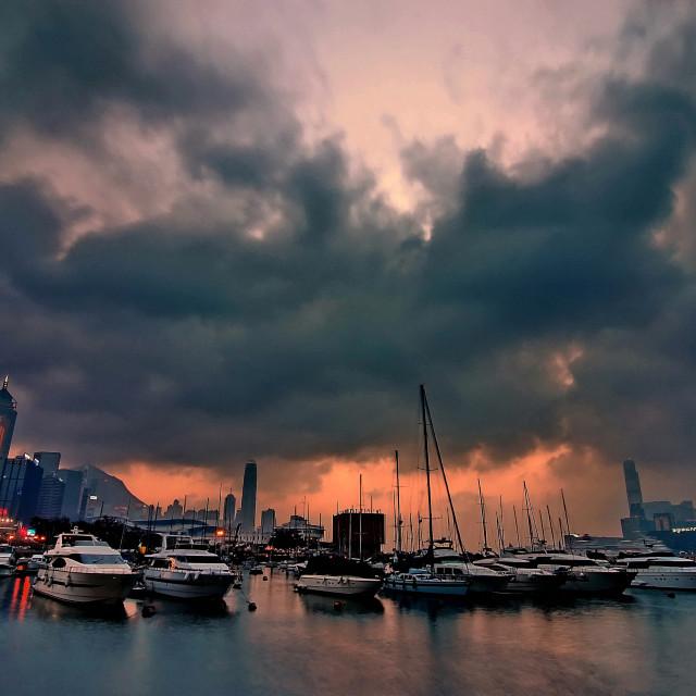 """""""The Royal Hong Kong Yacht Club"""" stock image"""