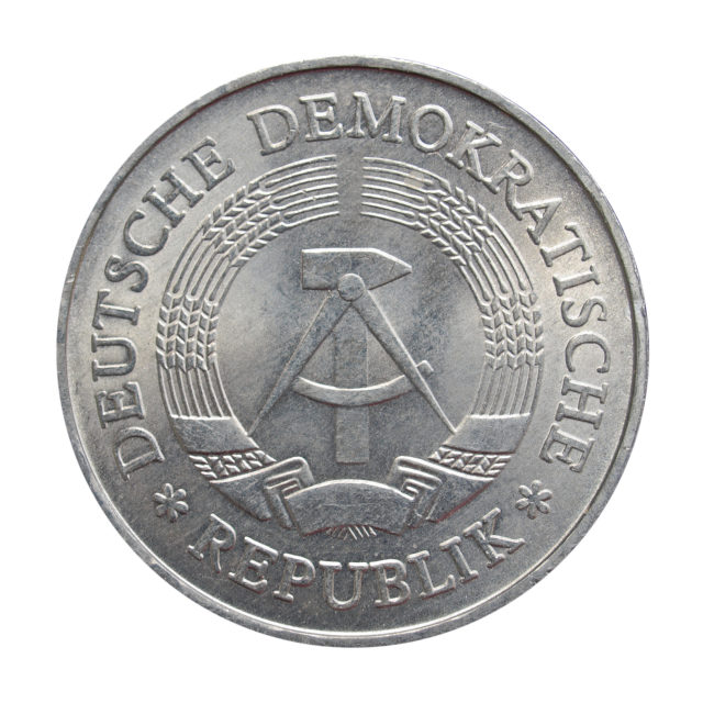 """DDR coin"" stock image"