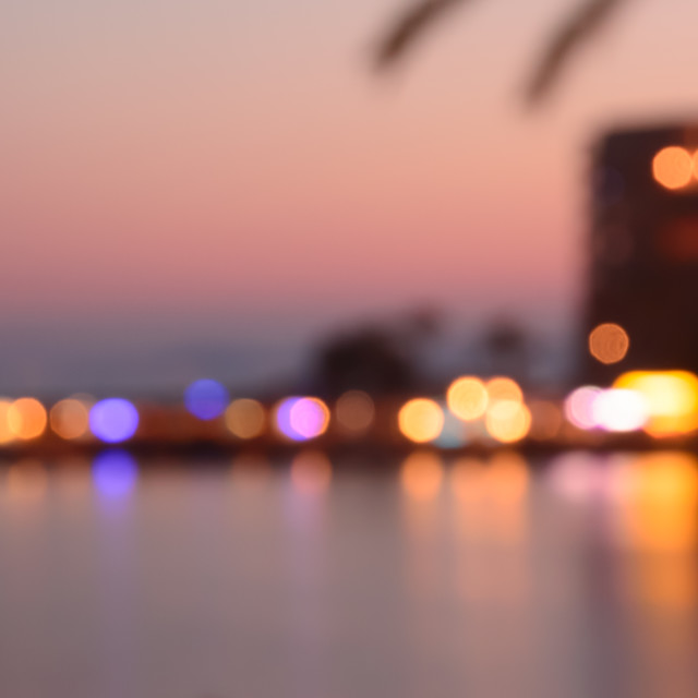 """Evening bokeh Majorca"" stock image"