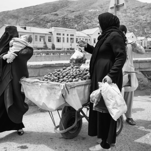 """""""Buying Fruit"""" stock image"""