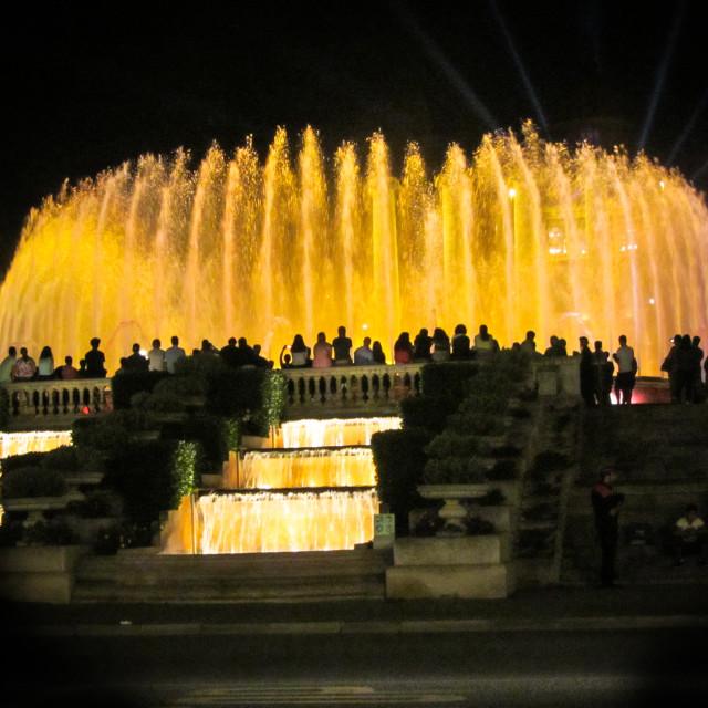 """Magic Fountain, Barcelona"" stock image"