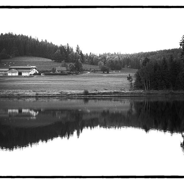 """Farm - Lake"" stock image"