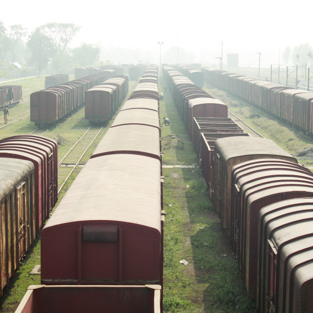 """Abandoned Trains!"" stock image"