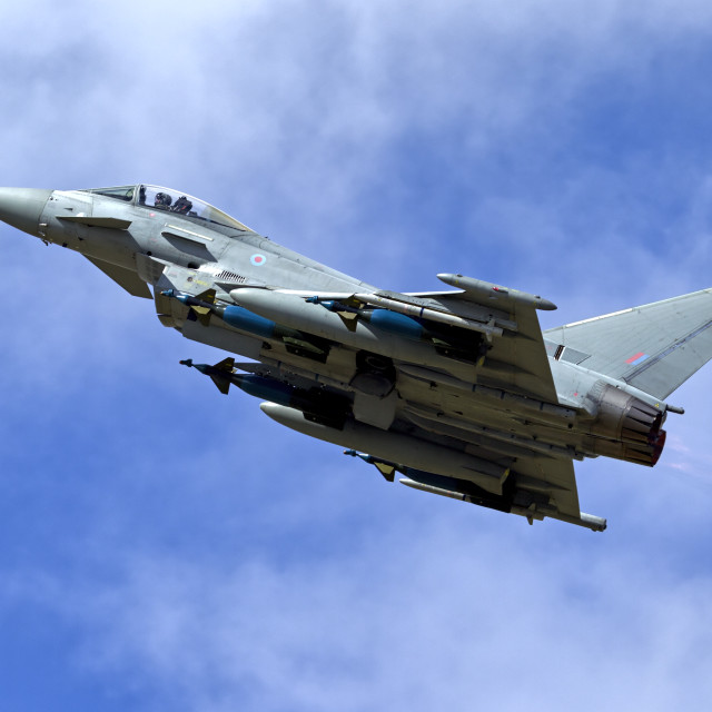 """Eurofighter Typhoon IPA5 ZJ700"" stock image"