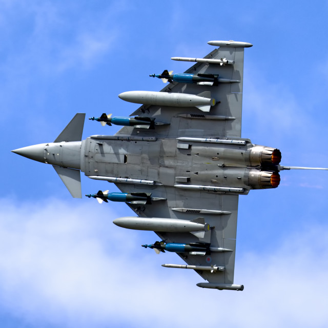 """Eurofighter Typhoon FGR.4 at RIAT Fairford 2011"" stock image"