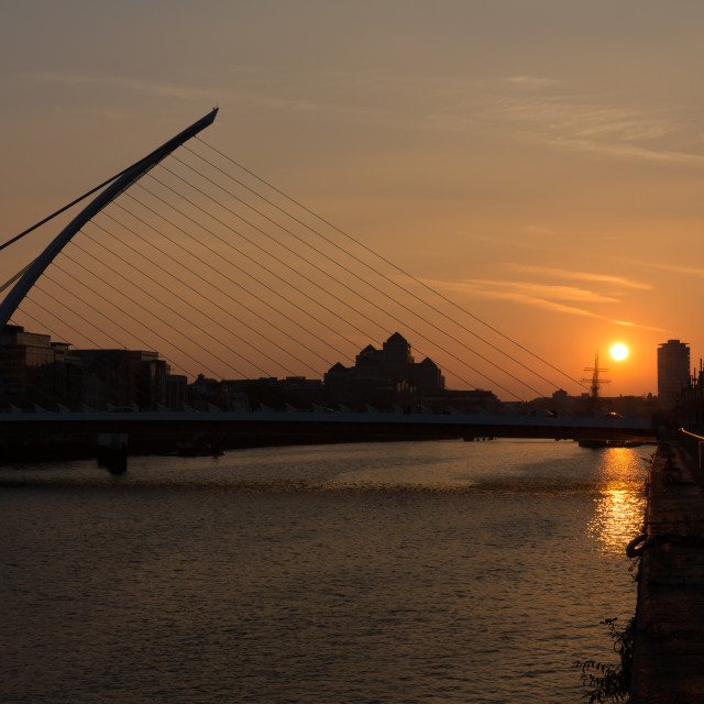 """Samuel Beckett Bridge Silhouette"" stock image"