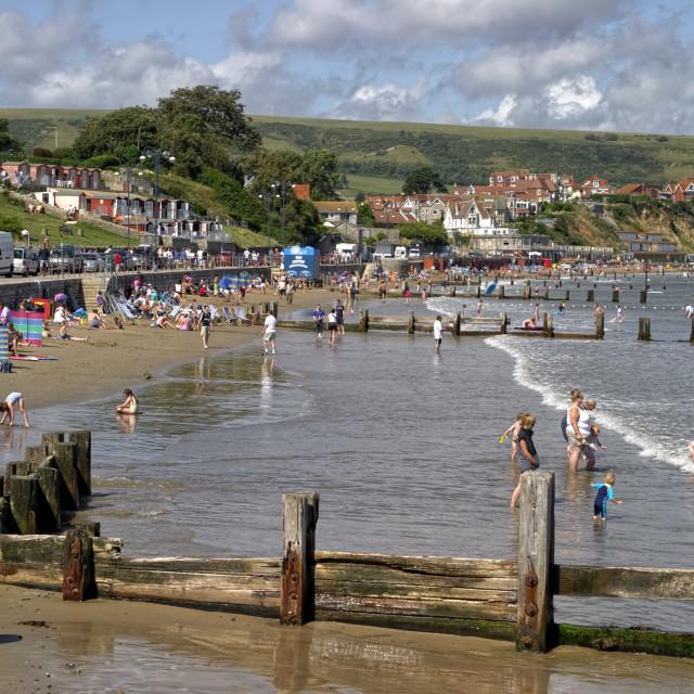 """""""Swanage, Dorset, United Kingdom"""" stock image"""