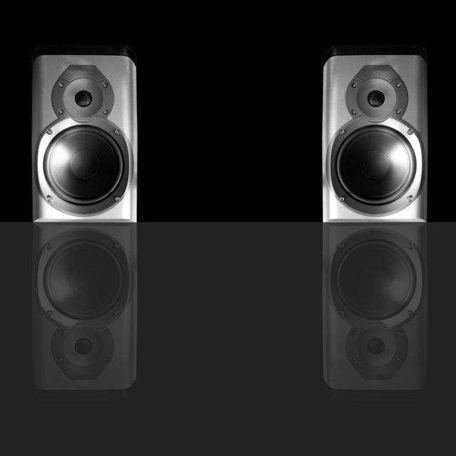 """Speakers pair"" stock image"