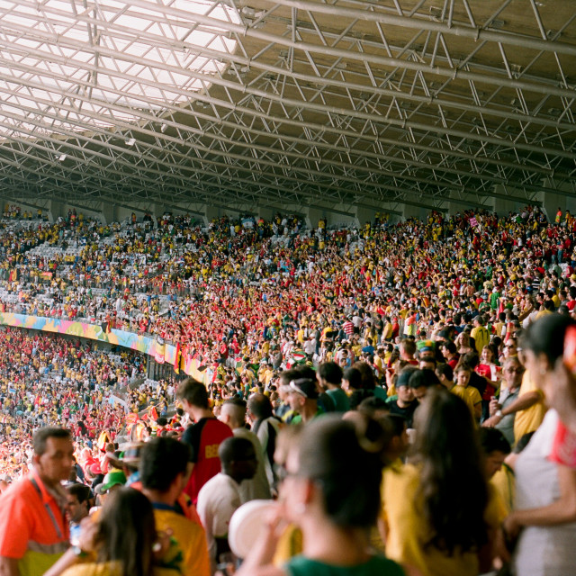 """Football fans in the stadium"" stock image"