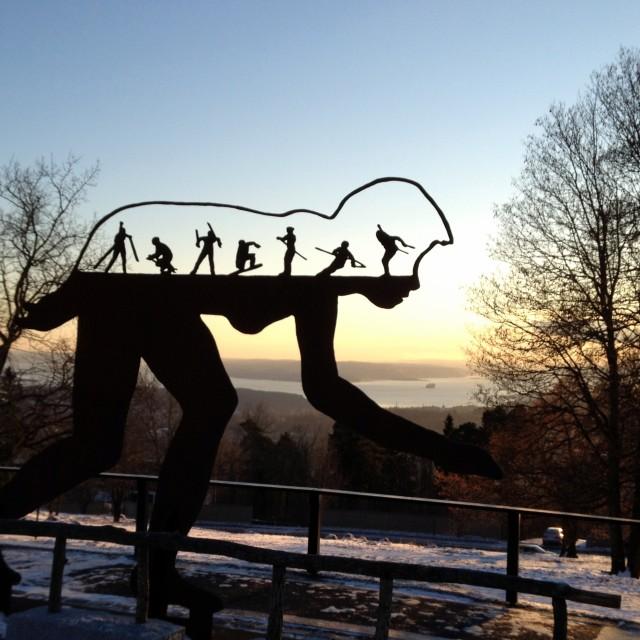 """Oslo winter sports"" stock image"