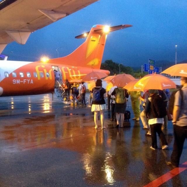 """""""Rain at Penang airport"""" stock image"""